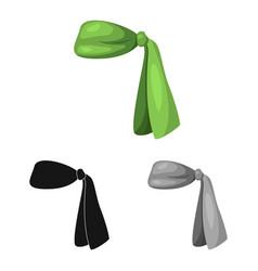 Scarf and shawl icon vector