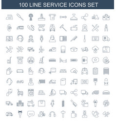 service icons vector image