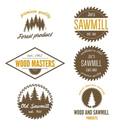 Set logo labels badges and logotype elements vector
