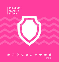 Shield - protection icon vector