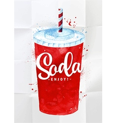 Soda watercolor vector