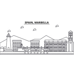 Spain marbella architecture line skyline vector