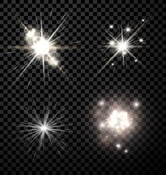 Stars set background vector