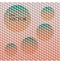 Sundown themed blurry background with hex grid vector