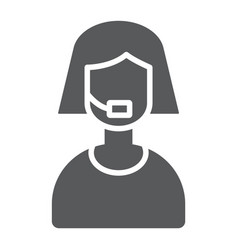 support glyph icon help and service operator vector image