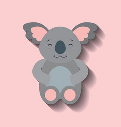 tender cute koala bear card icon vector image
