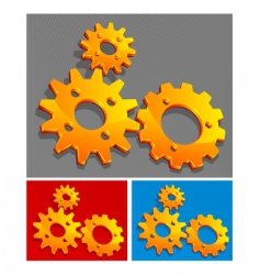 three-color gears vector image