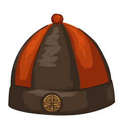 traditional chinese hat for men asian clothes vector image