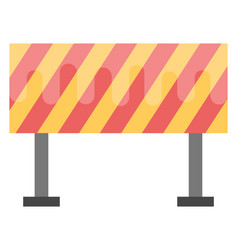 Traffic hurdle flat icon vector