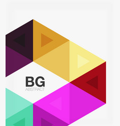triangles abstract background vector image