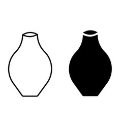 vase icon set vector image