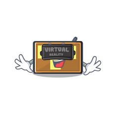 Virtual reality bulletin board isolated in the vector