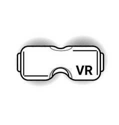 Vr glasses modern virtual reality goggles or vector