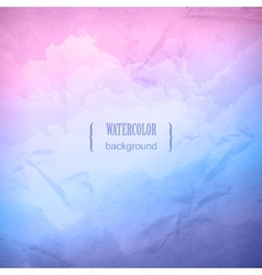 Watercolor cloudy sky background vector