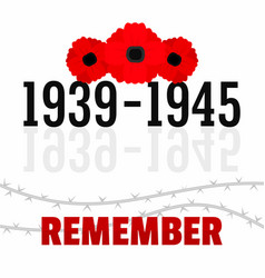 ww2 memory day concept background flat style vector image