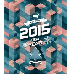 Abstract retro modern happy new year background vector image