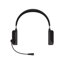 black headphones with vector image vector image