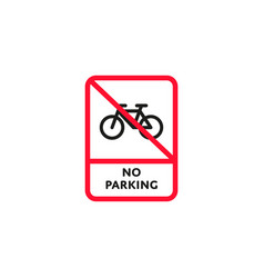 no parking bicycle roadsign isolated vector image vector image