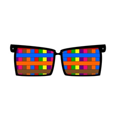 Vintage colored glasses for eyes vector image