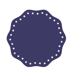 blue emblem stamp sticker blank design vector image