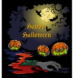 Card for halloween party vector