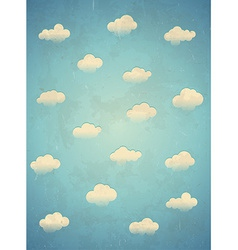 Clouds in the sky Vertical card vector image