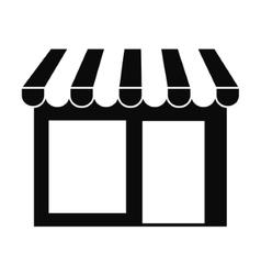 Local shop building vector image