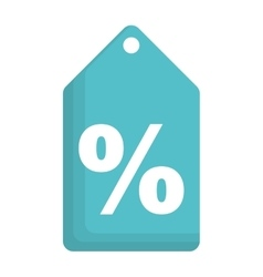 percent label or tag icon image vector image vector image