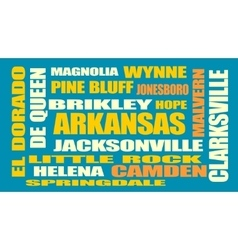 arkansas state cities list vector image vector image
