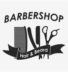 barbershop logo hairdresser vector image vector image