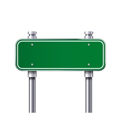 Blank traffic road sign vector image vector image