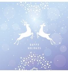 Deer blue background vector