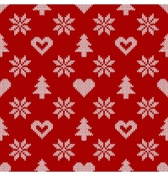 Knitted seamless pattern vector image