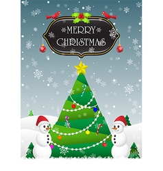 Merry Christmas and Happy New Year card background vector image vector image