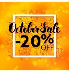 October sale flyer vector