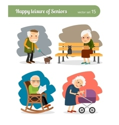 Retirement old people vector image vector image