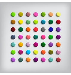 Set of Round Colorful Buttons vector image