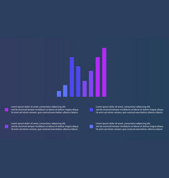 Collection graph and data design business vector