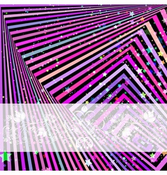 Festive frame with colorful stripes vector image vector image