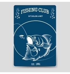 Fishing club brochure flyer template vector image vector image