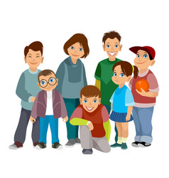 group of smiling children vector image vector image