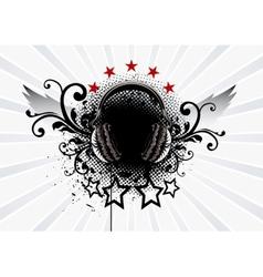 Headphone Emblem vector image