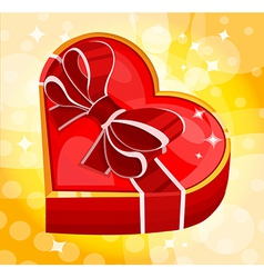 red heart box vector image