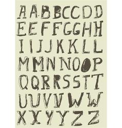Vintage Alphabet vector image vector image