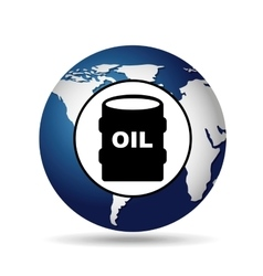 world oil industry consumption oil barrel vector image vector image