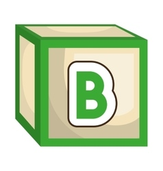 ABC block isolated flat icon vector