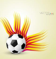Abstract football design vector