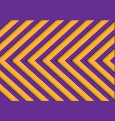 Abstract purple yellow arrows pattern vector