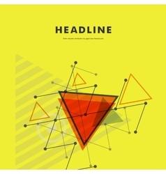 Abstract rapid triangular design vector image