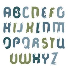 Acrylic font handwritten watercolor capital vector